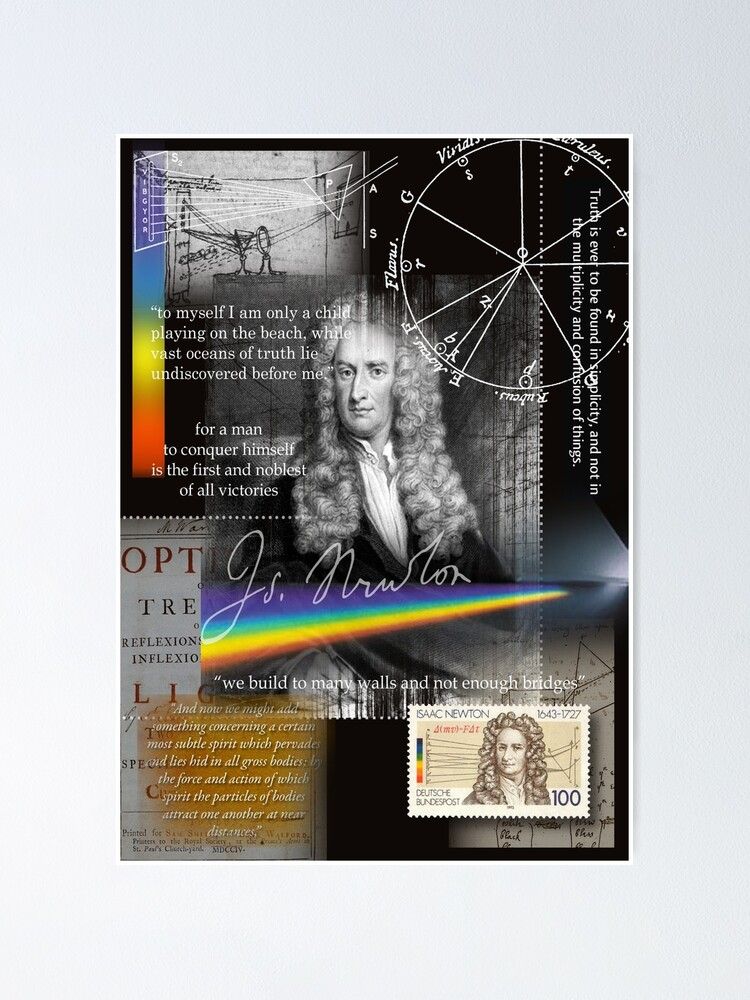 Alternate view of issac newton Poster