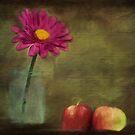 Flower and Apple Still Life by KathleenRinker