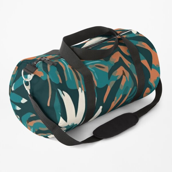 Beautiful seamless pattern with tropical plants leaves Duffle Bag