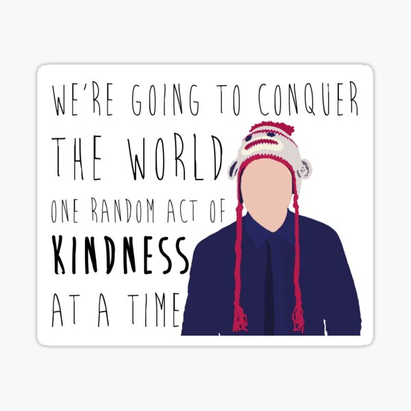 Conquer with Kindness sticker Sticker