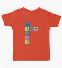 GENIUS NERD! Periodic Table Scrabble Kids Clothes