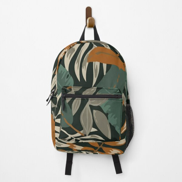 Botanical seamless pattern with leaves Backpack