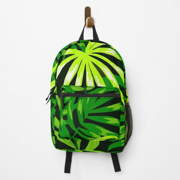 Botanical seamless pattern with leaves hawaii Backpack