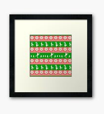 Mary Christmas Sweater Print Framed Print