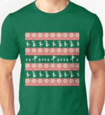 Mary Christmas Sweater Print T-Shirt
