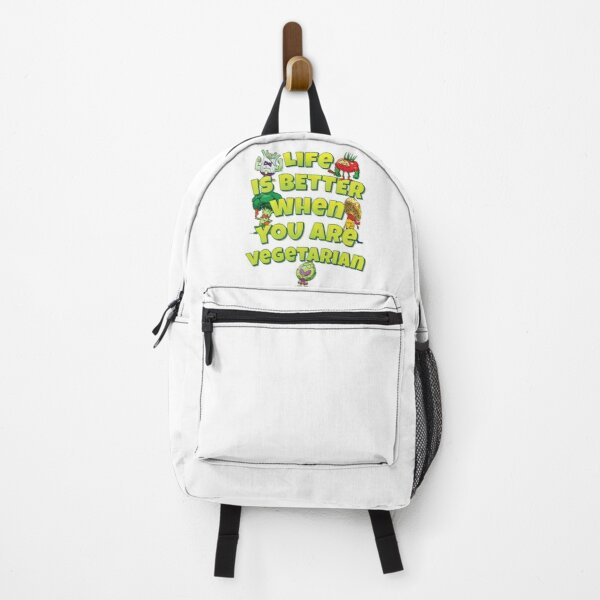 Life Is Better When You Are Vegetarian Backpack