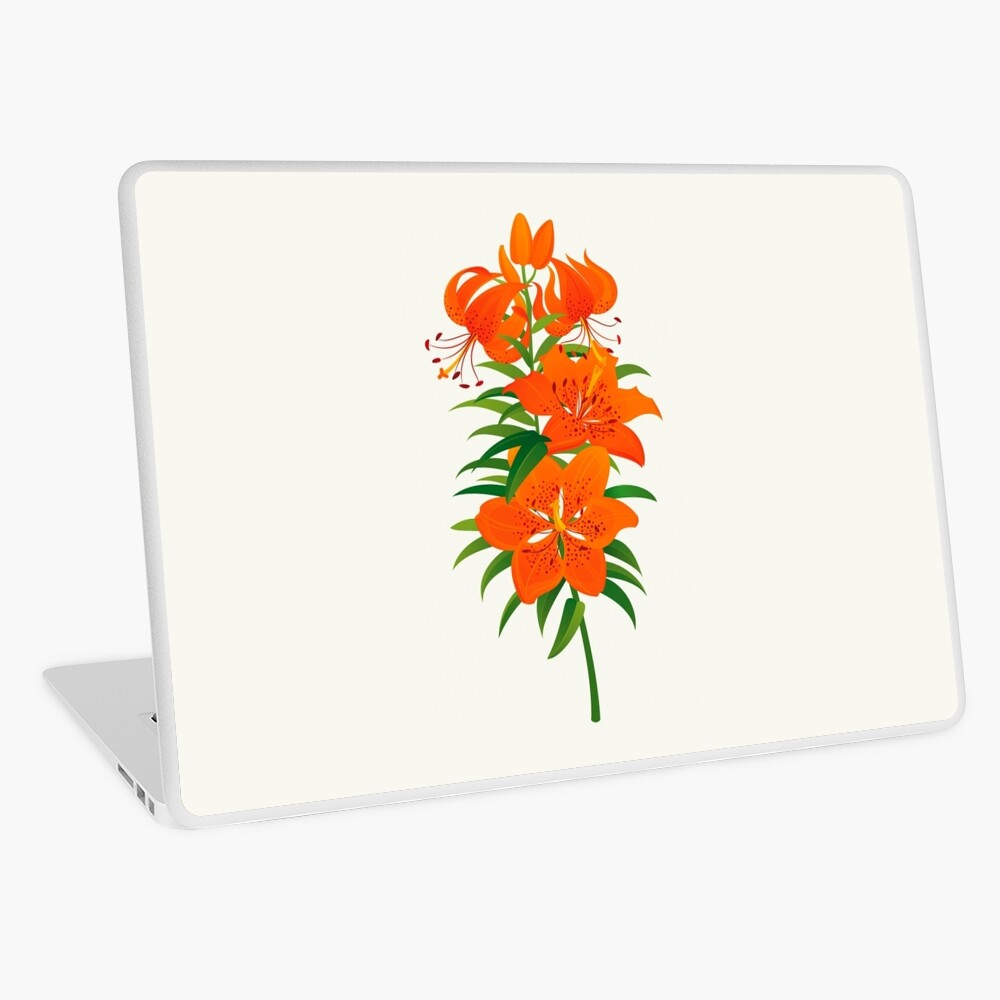 Red Lily Laptop Skin