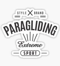 Paragliding Extreme Sport Graphic Art Sticker