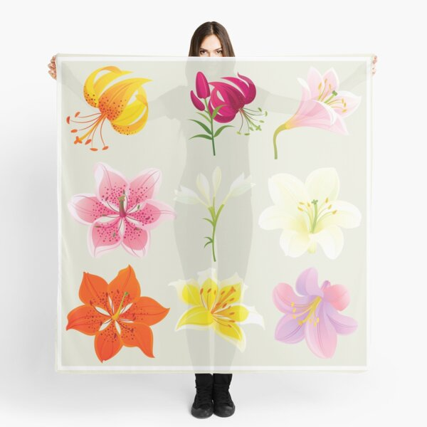 Colorful Lilies Scarf