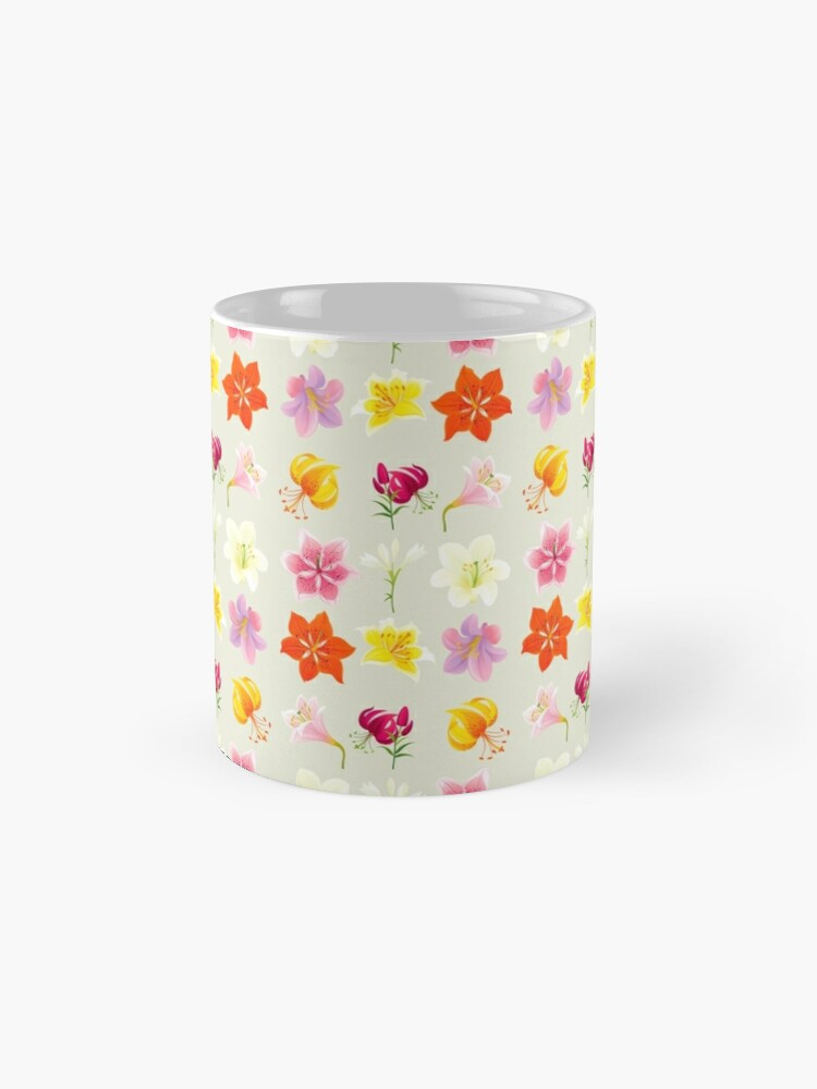 Alternate view of Colorful Lilies Mug