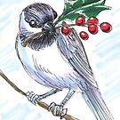 Holiday Critters - Chickadee by Stephanie Smith
