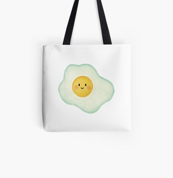 The Happy Fried Egg All Over Print Tote Bag