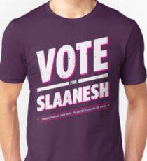 Vote for Slaanesh - Damaged Unisex T-Shirt