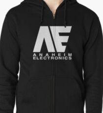 Sudadera con capucha y cremallera Anaheim Electronics Logo Blanco
