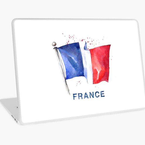 WATERCOLOR FLAG OF FRANCE Laptop Skin