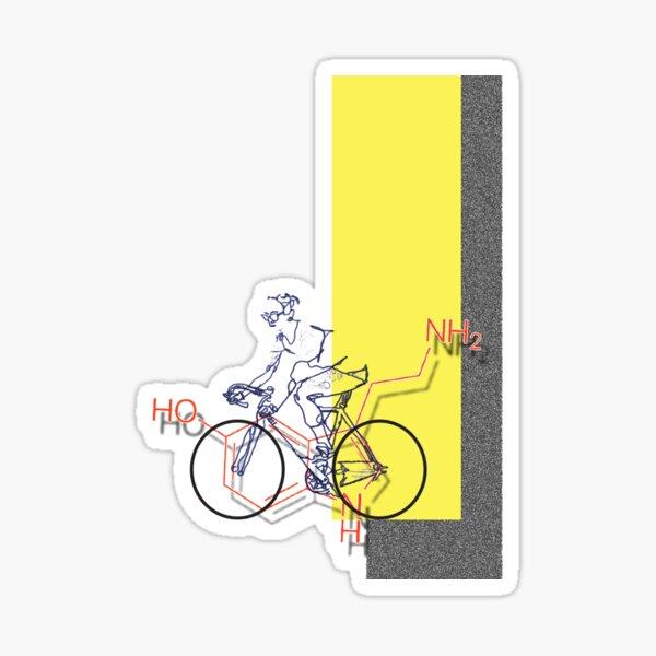 Bike Serotonin, digital illustration Sticker