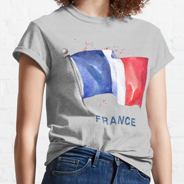WATERCOLOR FLAG OF FRANCE Classic T-Shirt