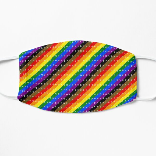 IPA scarf - rainbow including black and brown stripes Mask
