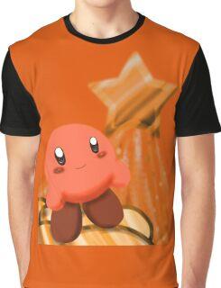 Orange Kirby  Graphic T-Shirt