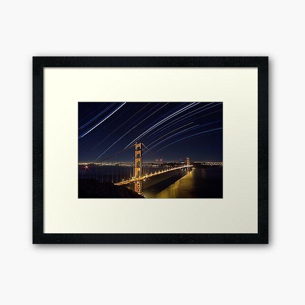 Stars Bridge Framed Art Print