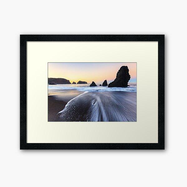Glowing sea Framed Art Print