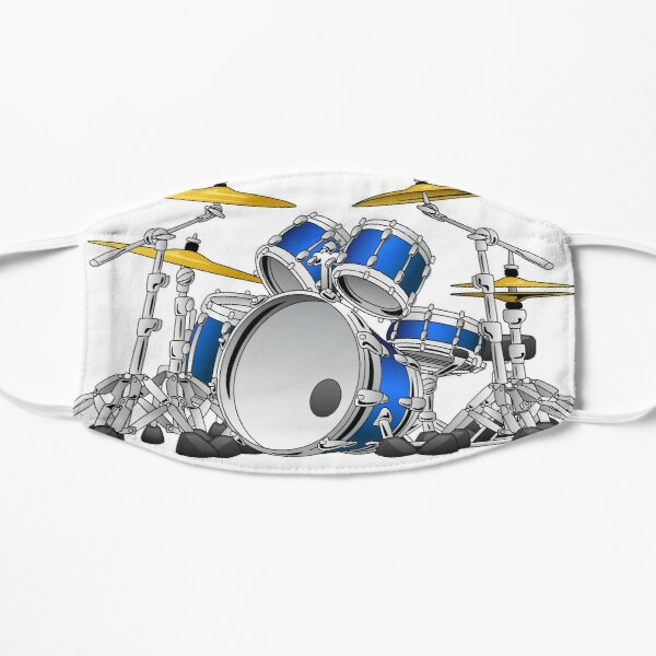 5 Piece Drum Set Cartoon Flat Mask