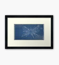 Blueprint - The discovery of Time-Travel Framed Print