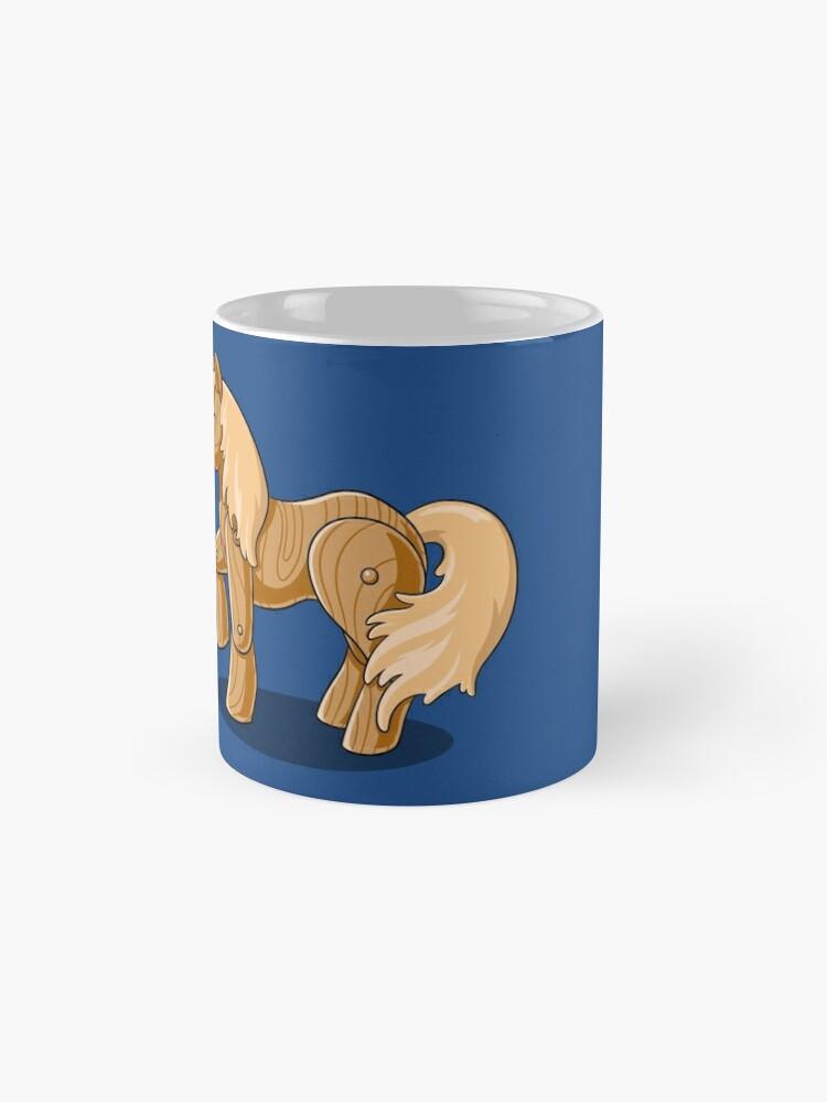 Alternate view of Unocchio the Wooden Unicorn Mug