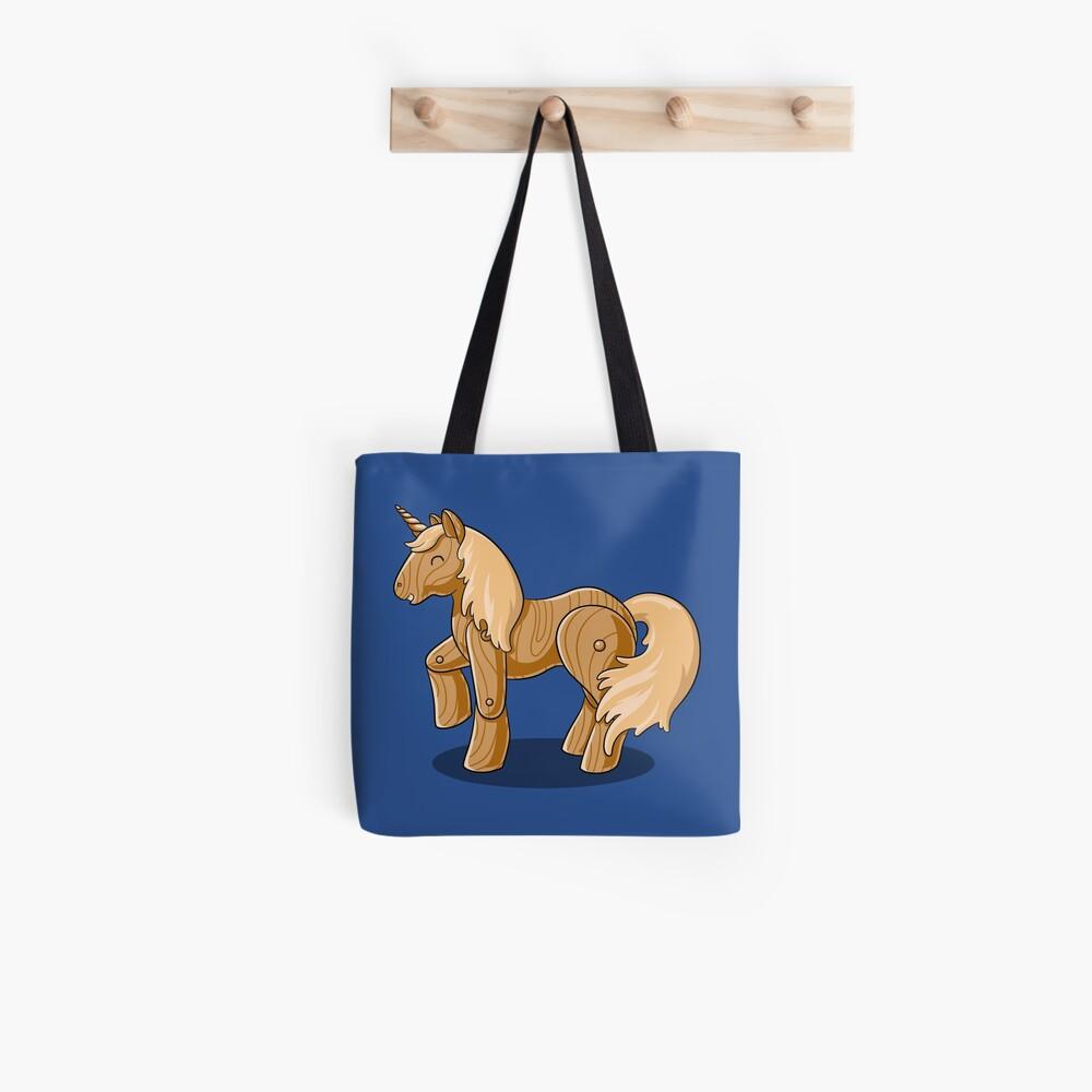 Unocchio the Wooden Unicorn Tote Bag