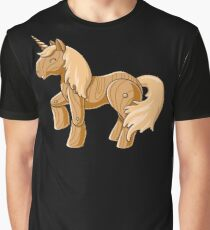 Unocchio the Wooden Unicorn Graphic T-Shirt