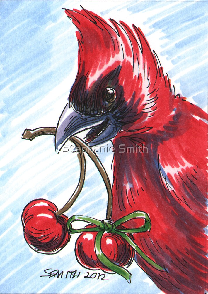 Holiday Critters - Cardinal by Stephanie Smith