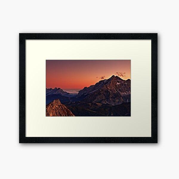Cernera sunset Framed Art Print