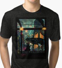 Camiseta de tejido mixto Debajo del mar