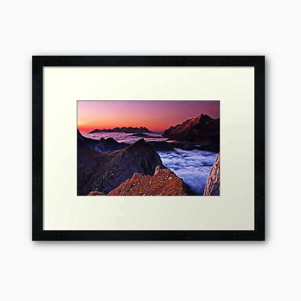 Morning misty sea Framed Art Print