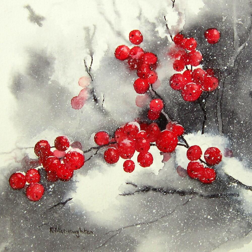 Red Berries,White Snow by artbyrachel