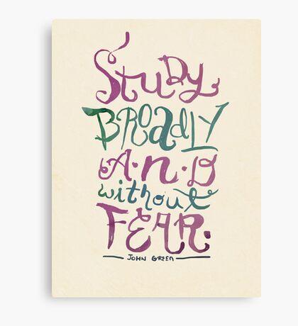 Study Broadly Canvas Print