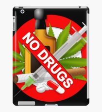 no drugs iPad Case/Skin