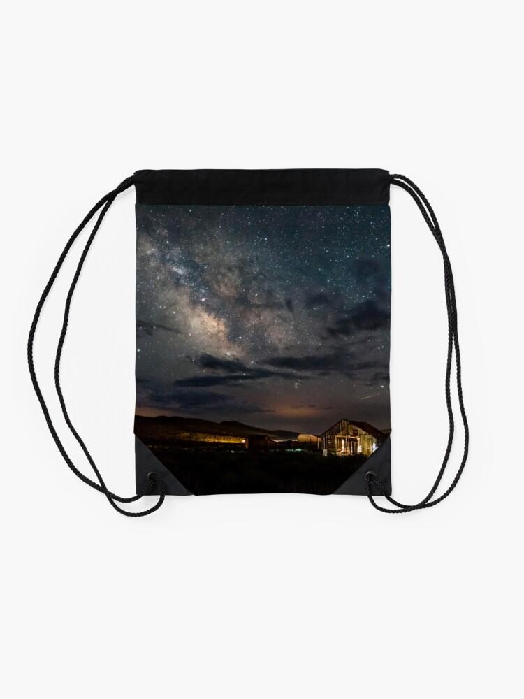 Alternate view of Leaving the Light On Drawstring Bag