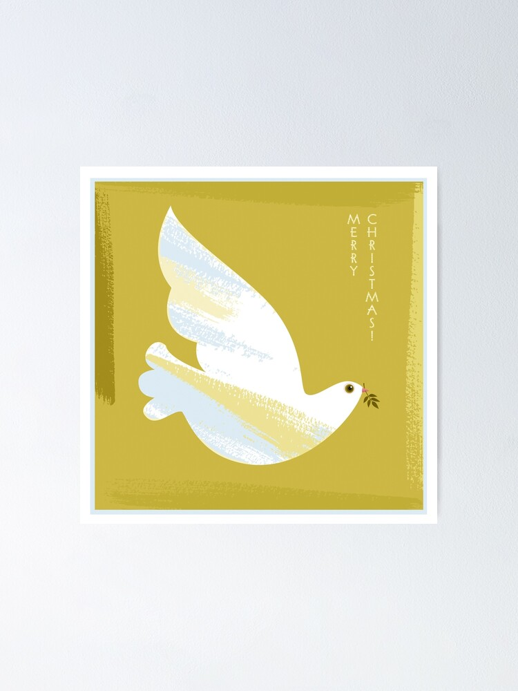 Alternate view of Christmas Dove Poster