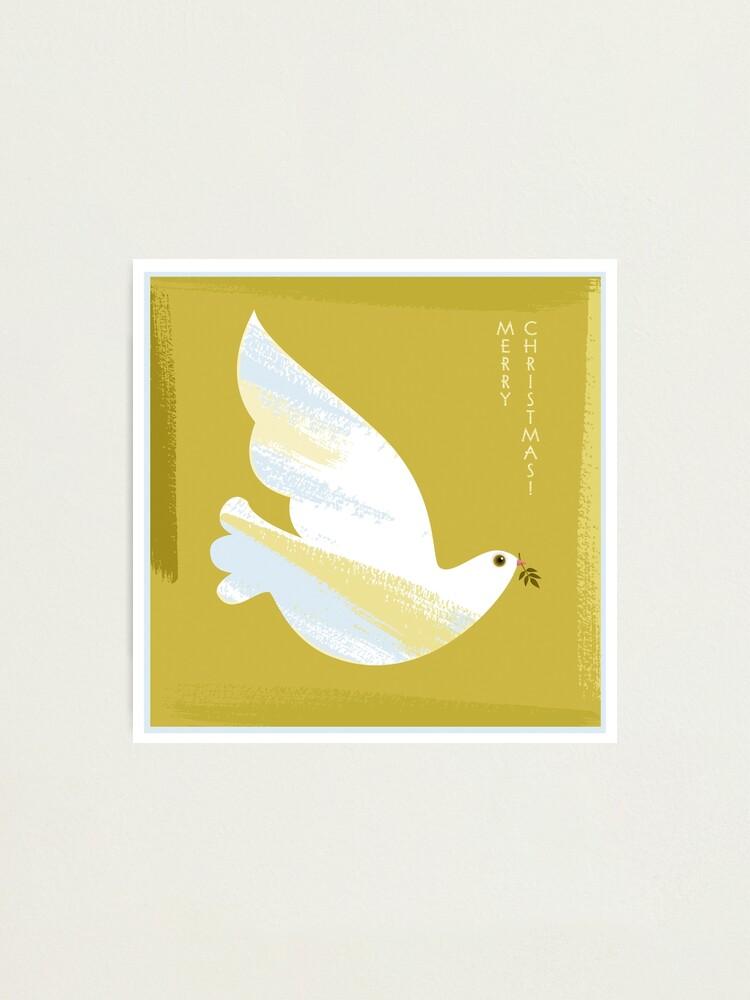 Alternate view of Christmas Dove Photographic Print
