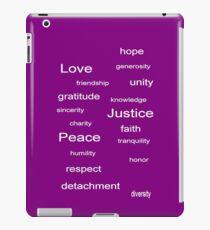 Love Peace Justice - Purple iPad Case/Skin