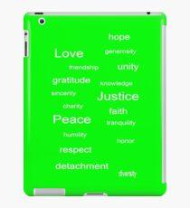 Love Peace Justice - Lime iPad Case/Skin