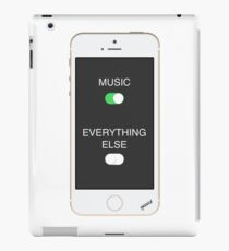 Music Over Everything iPad Case/Skin
