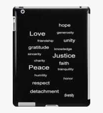 Love Peace Justice - Black iPad Case/Skin