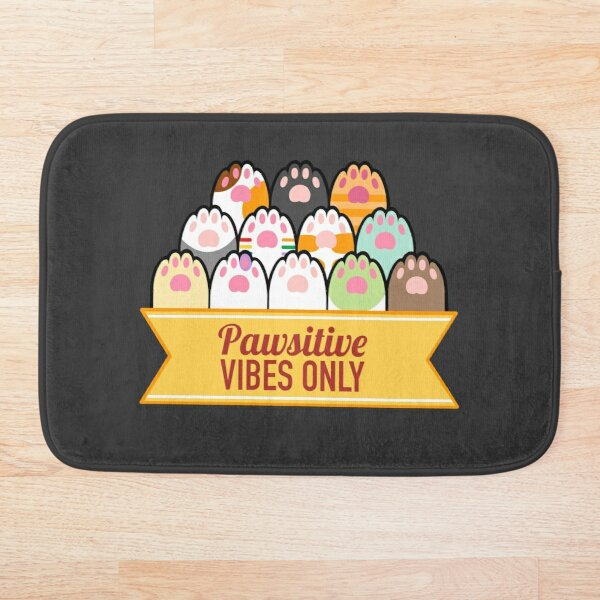 Pawsitive Vibes Only Bath Mat
