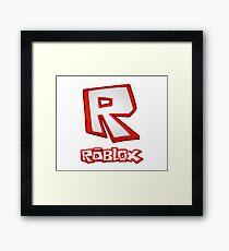 Roblox R Logo Framed Print