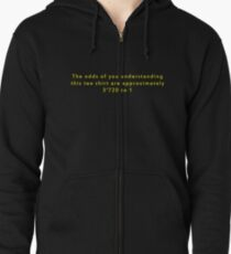 The Odds Are 3720 to 1; Yellow Zipped Hoodie