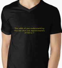 The Odds Are 3720 to 1; Yellow Men's V-Neck T-Shirt