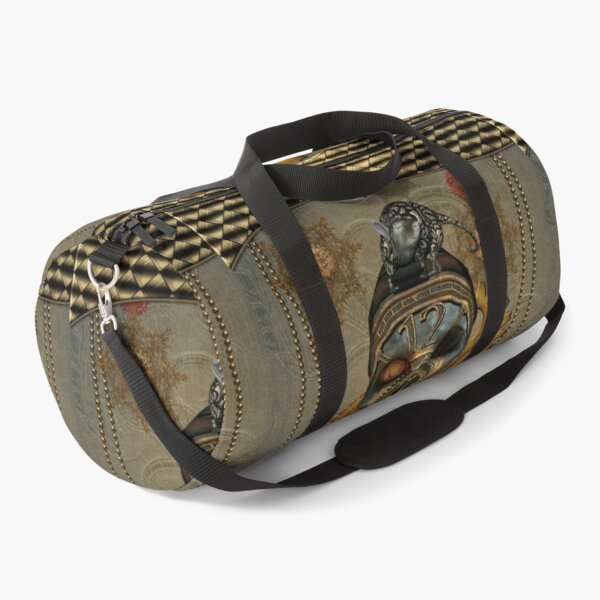 Steampunk, awesome steampunk skull with steampunk rat Duffle Bag