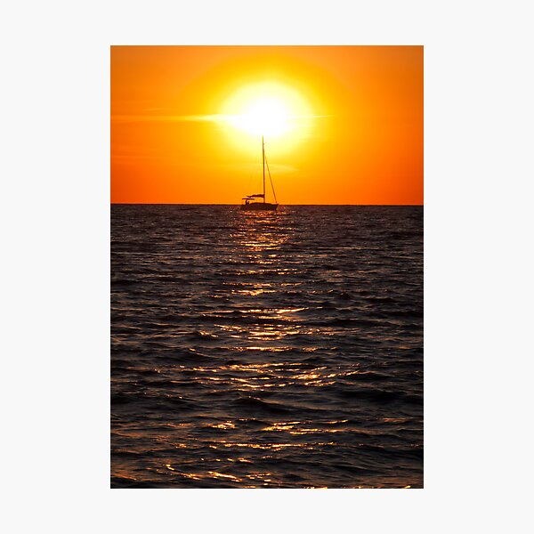 Sailing into the Sunset  on Tangier Island Photographic Print